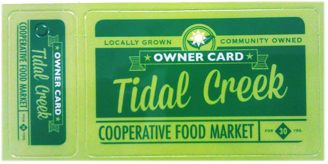 Tidal Creek Ownership Card Member Coop