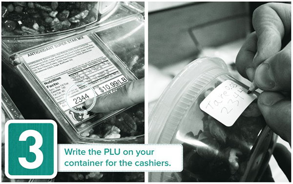Write the PLU on your container for the cashiers - Tidal Creek Coop