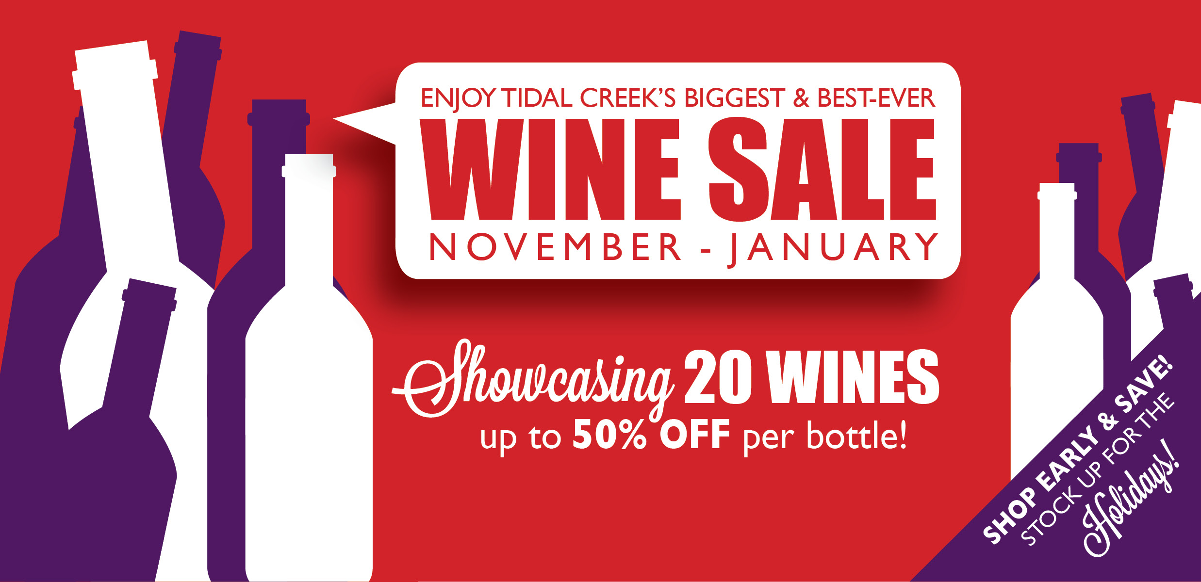 Tidal Creek Coop Wine Sale